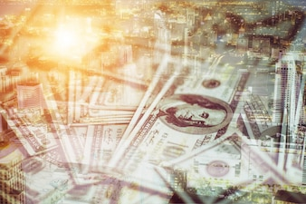 Salários de dívida de negócios tem usd