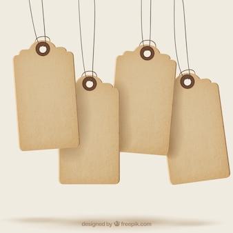 Tag da venda com textura
