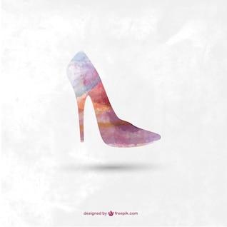 Sapato de salto alto da moda vector