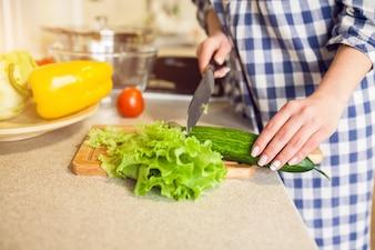 Saúde, dieta, vegetal, fresco, fim, cima