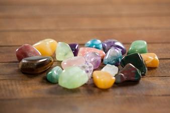 Seixos coloridos pedras