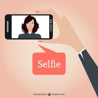 Selfie projeto do vetor livre