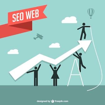 Seo ilustração em vetor web