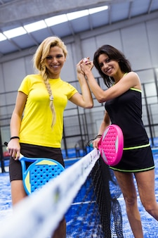 Servir ajuste equipa tenis de mistura