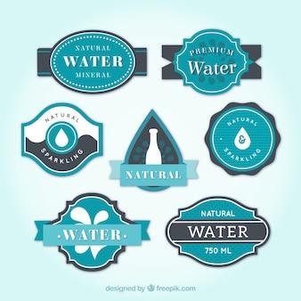 Jogo de etiquetas de água