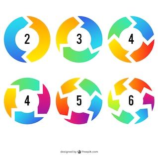Setas Infográfico círculos