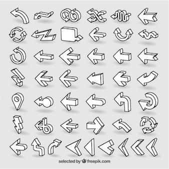 Setas isométricas