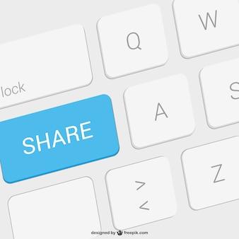 Compartilhar ilustração chave vector