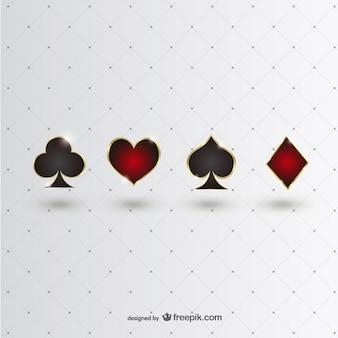 Símbolos de poker brilhantes