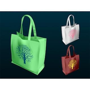 Shopping bag illustrator vetor pacote