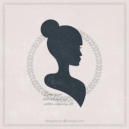 Silhueta de uma mulher bonita