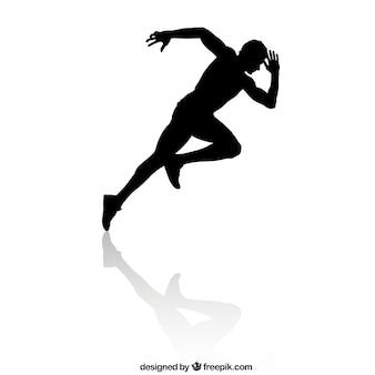 Silhueta do corredor de velocidade