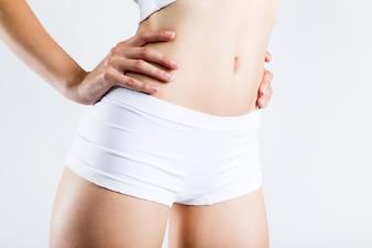 Silhueta saúde cintura modelo de exercício