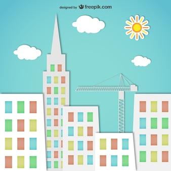 Silhuetas coloridas da cidade