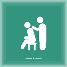 Silhuetas de massagem logotipo