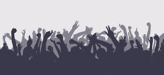 silhuetas multidão definir
