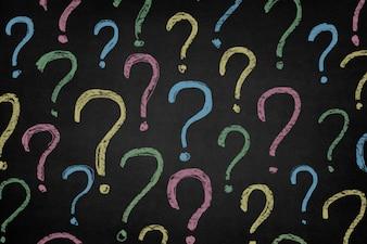 Símbolos de interrogação cor