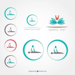 Símbolos de massagem definidos