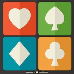 Símbolos de poker vector