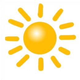 símbolos de tempo: sol