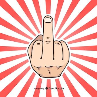 Sinal da mão do dedo médio