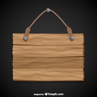 Sinal de suspensão de madeira