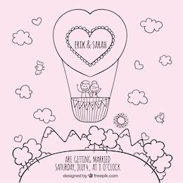Sketchy convite de casamento
