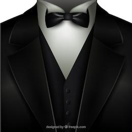 Smoking com gravata borboleta