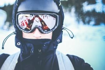 Retrato Snowboarder Auto