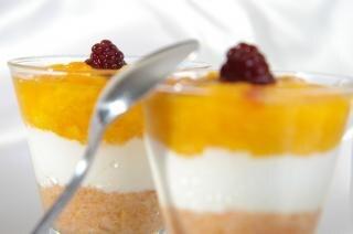 Sobremesa de fruta, gourmet