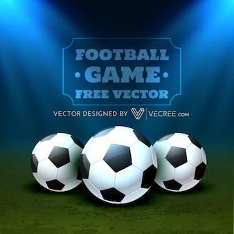 Bolas de futebol no campo