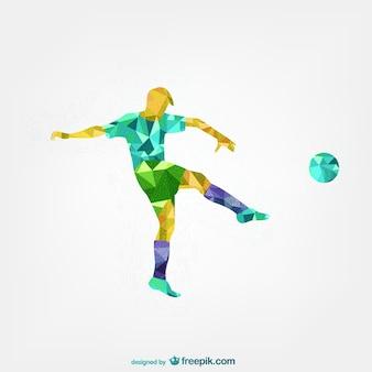 Jogador de futebol modelo abstrato
