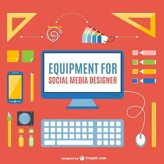 Pacote designer de mídia social