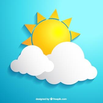 Sol e nuvens