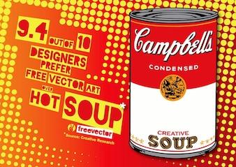 sopa de arte pop