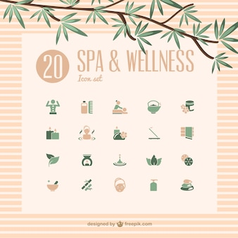 Spa e bem-estar ícones