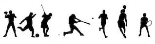 Sports pessoas illustrator vetor pacote