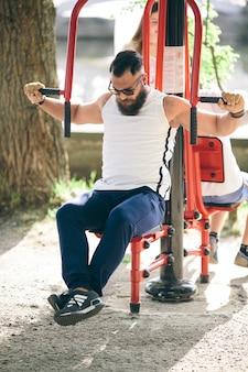 Sportsman fortalecer seus braços