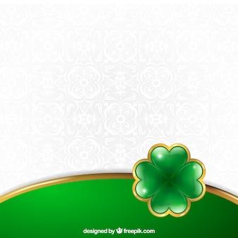St Patrick fundo com um trevo brilhante