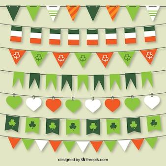 St Patrick coleção bandeiras Bunting