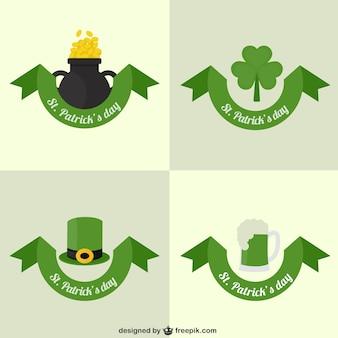 St Patricks coleção de cartões dia