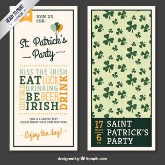 Panfleto St Patricks com letras