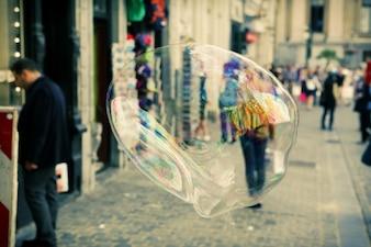 Rua bolha de sabão