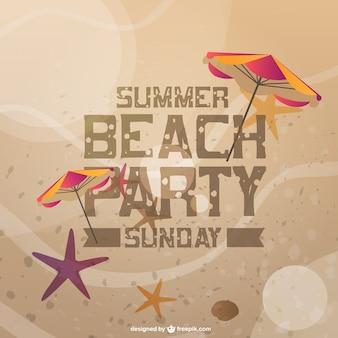 Praia do cartão do convite da festa de verão