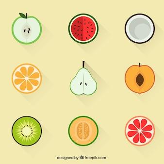 Ícones da fruta do verão