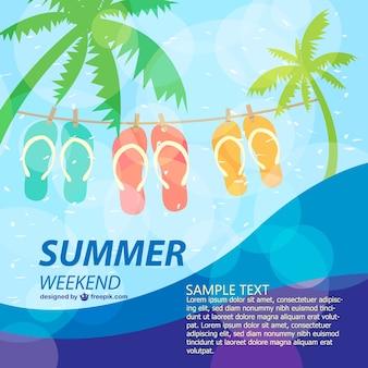 Cartaz verão modelo do feriado divertido