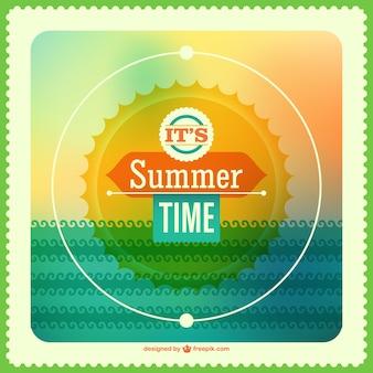 Arte vetor horário de verão
