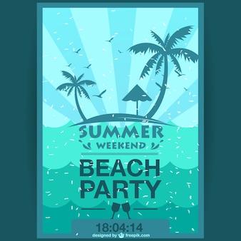 Cartaz festa fim de semana de verão