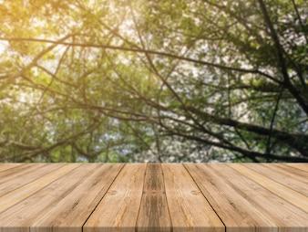 Superfície da mesa montagem de mesa de madeira