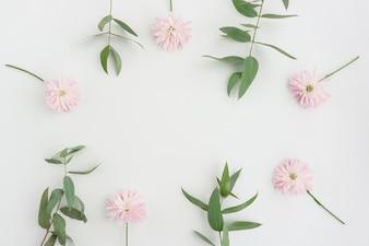 Superfície floral com espaço em branco